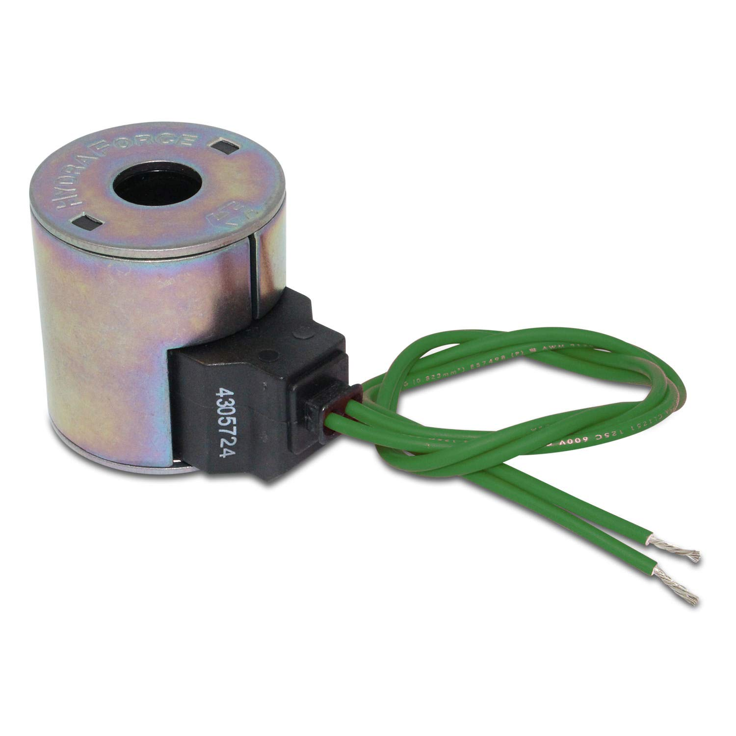 """18/"""" Wire Leads HydraForce 6352012 Solenoid Valve Coil Size 10 12v DC"""