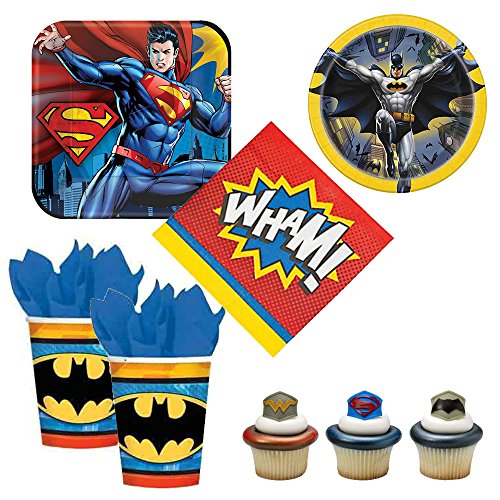 Batman vs Superman - Dawn of Justice theme - party supplies - plates, napkins. cups, cupcake rings