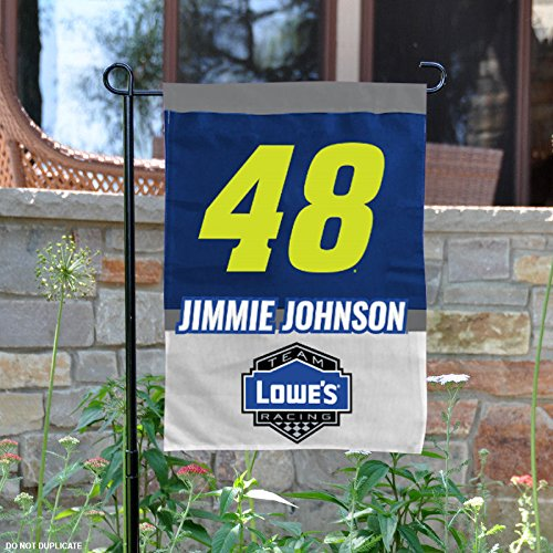 NASCAR Jimmie Johnson #48 Two Sided Garden Flag