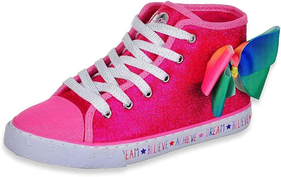 JoJo Siwa Girls Pink/Rainbow Hi Top