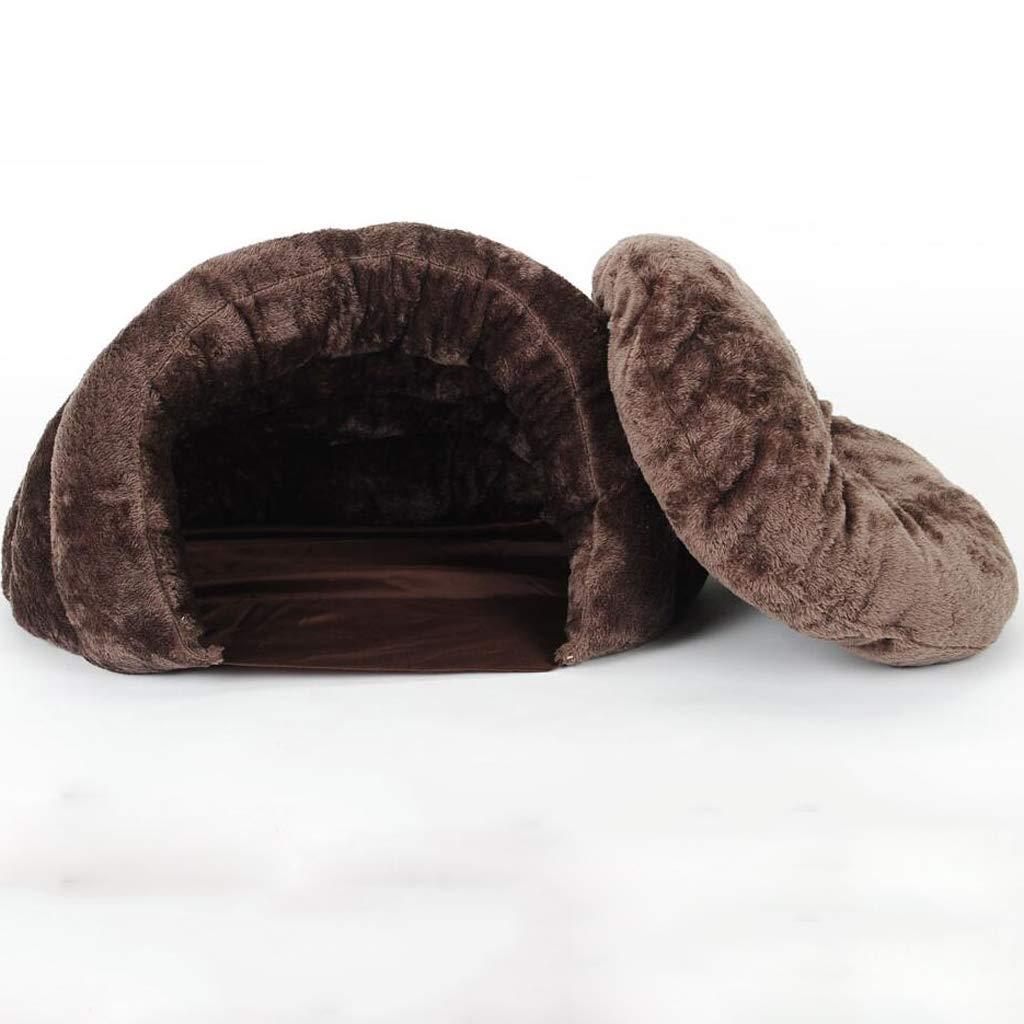 M Cat Litter Winter Warm Closed Cat Sleeping Bag Cat Supplies Cat Mat Winter Four Seasons Universal Cat Nest (Size   M)