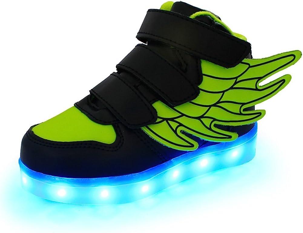 Kids LED Fashion Sneakers Girls Boys Flashing Roller Skate Sport Shoes Recharge