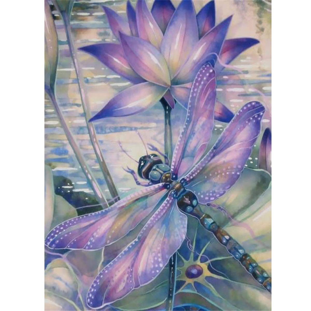 M, 20X30cm Peinture en Diamant 5D DIY Diamant Peinture Kits pour Adultes Strass Broderie Diamant Art Broderie Diamant kit Complet Papillon et Fleur