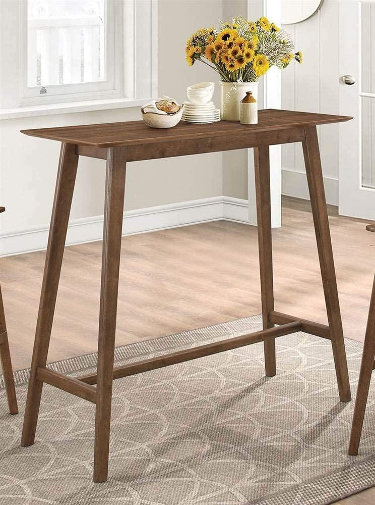 Coaster 101436-CO Rectangular Bar Table, Walnut