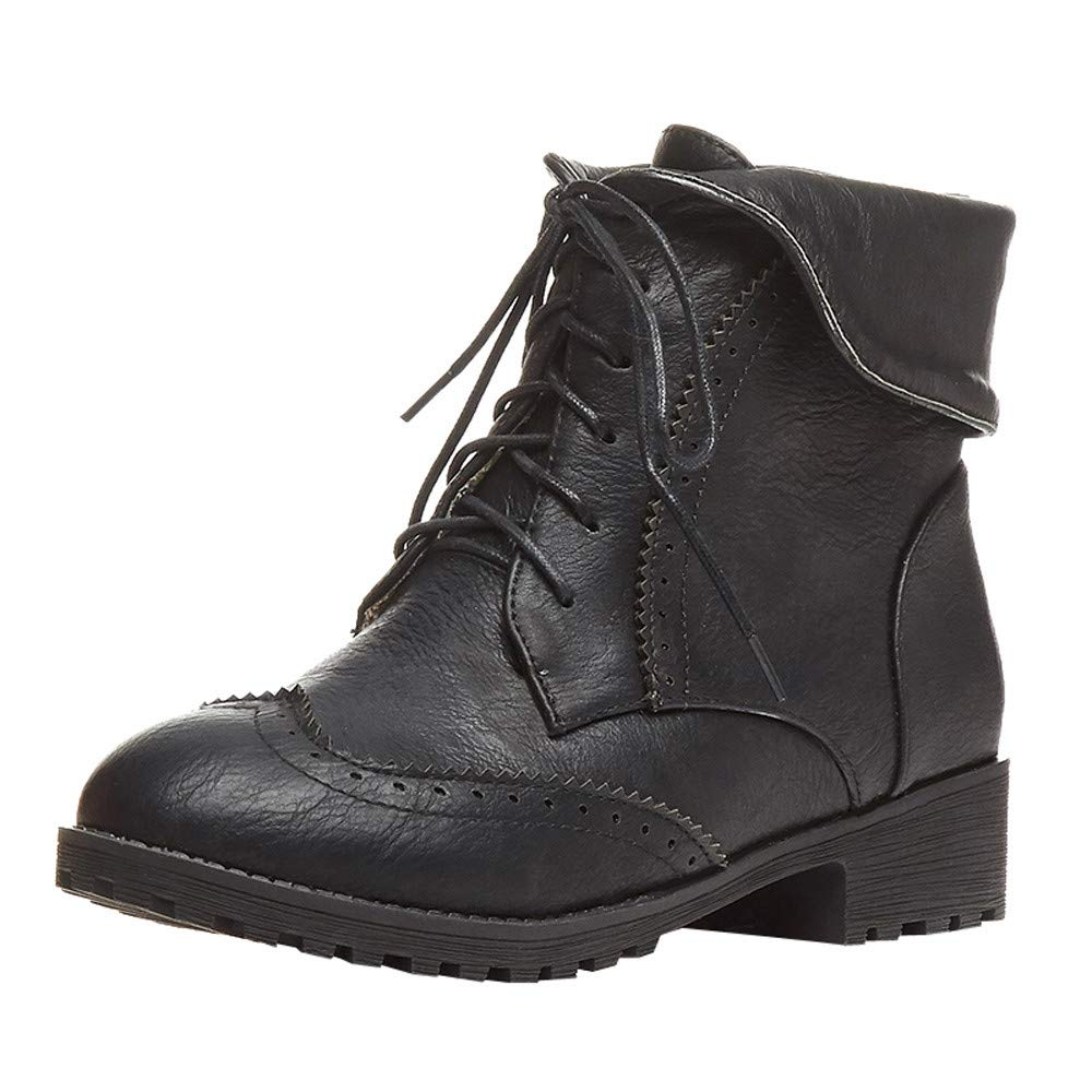 915e3065e455 Lace Up Women Boots Ankle Winter Snow Ladies Shoes Size 5 Casual Hiking  Leisure Fashion On Soles Wide Fit Cheap Low Heel  Amazon.co.uk  Shoes   Bags