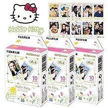 Fujifilm Instax Mini Sanrio Hello Kitty Instant 30 Film for Fuji 7s 8 25 50s 70 90 / Polaroid 300 Instant Camera / Share SP-1 Printer