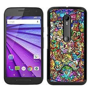 All character disney Black Special Custom Picture Design Motorola Moto G 3rd Generation Phone Case