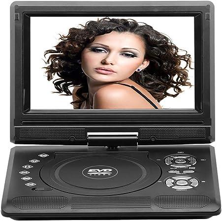 WXX Reproductor De DVD Portátil De 9 Pulgadas con Pantalla Giratoria Grande Incorporada De 1380X720, Entrada/Salida AV Gratuita con Interfaz TV/USB/SD/AV (Negro),Negro: Amazon.es: Hogar
