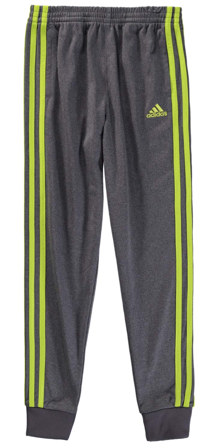 adidas Boys' Jogger Pant (2T, Dark Grey/Lime Green)