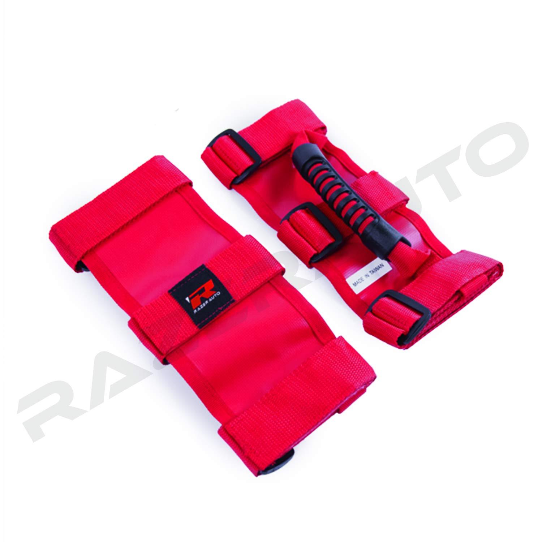 for Jeep Wrangler CJ YJ TJ JK PAIR PREMIUM Roll Bar Grab Handle Handles Black