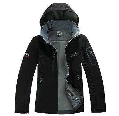 bosozoku women s waterproof soft shell jacket lightweight hooded