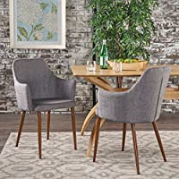 Christopher Knight Home 301733 Dining Chairs, Light Grey/Dark Brown