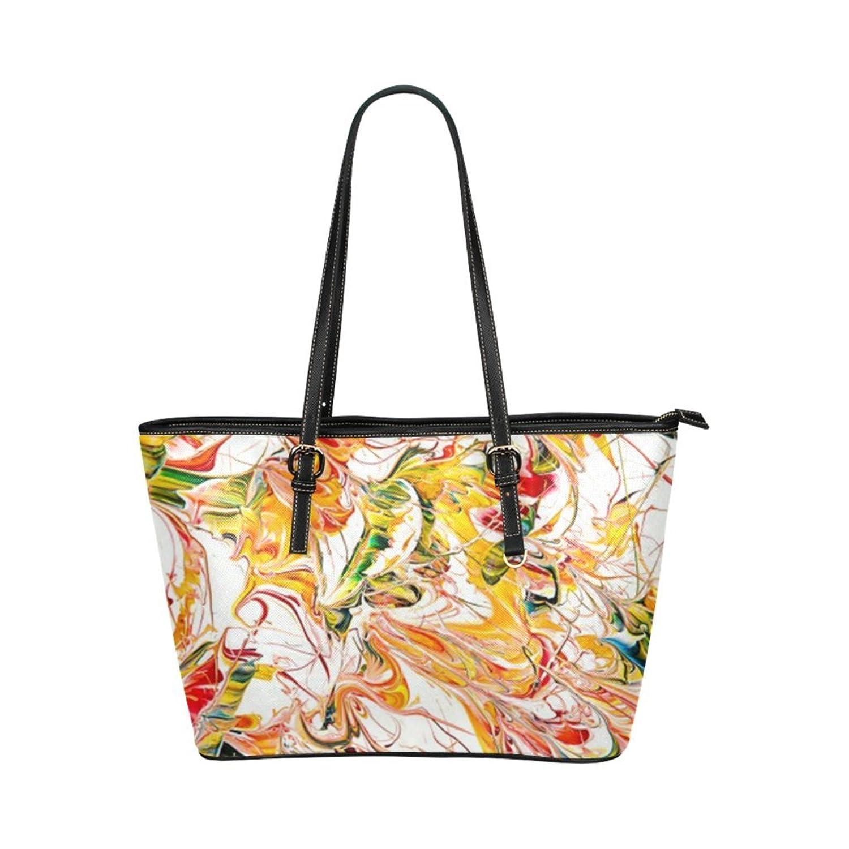 Honey Leather Tote Bag Marble PU Tote Bag Shoulder Bag/Travel Handbag