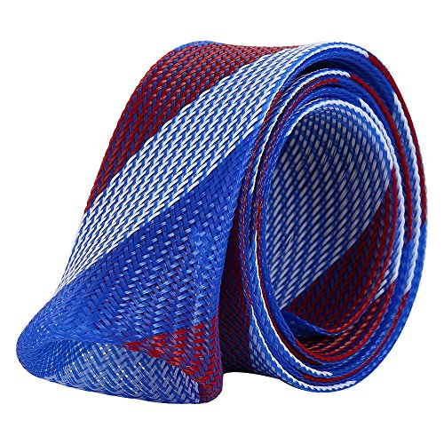 Isafish Expandable Braided Fishing Rod Sleeve Pole Fishing Tools Spinning Casting Rod Cover Protector Jacket Socks Blue Review