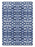 KAVKA Designs Shibori Mirror Area Rug, (Blue) - SALTWATER Collection, Size: 3x5x.5 - (BBAAVC6502RUG35)