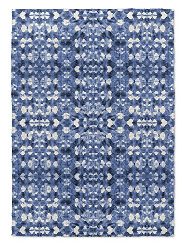 KAVKA DESIGNS Shibori Mirror Area Rug, (Blue) - SALTWATER Collection, Size: 3x5x.5 - (BBAAVC6502RUG35) by KAVKA DESIGNS