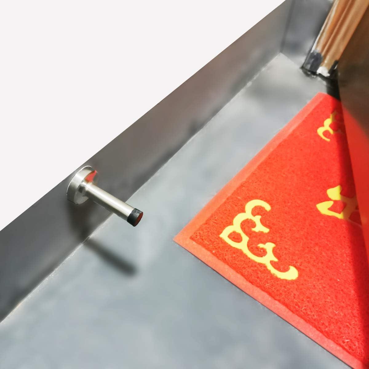 Tope de puerta autoadhesivo de acero inoxidable tope de puerta largo con absorci/ón ac/ústica