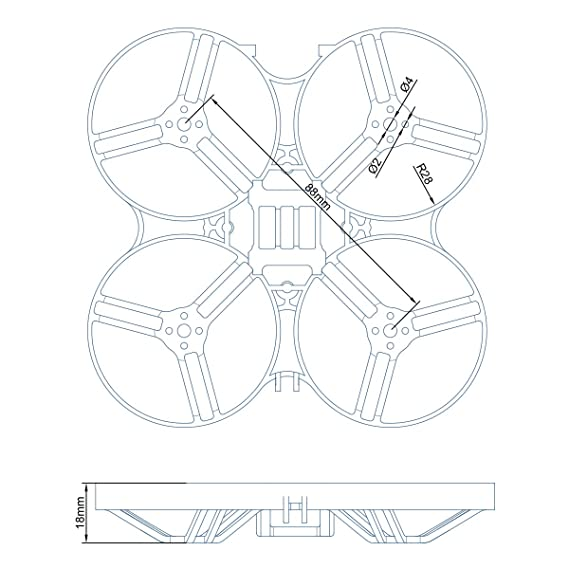 Amazon Com Betafpv 2pcs Beta85x Cine Whoop Frame Kit Black And
