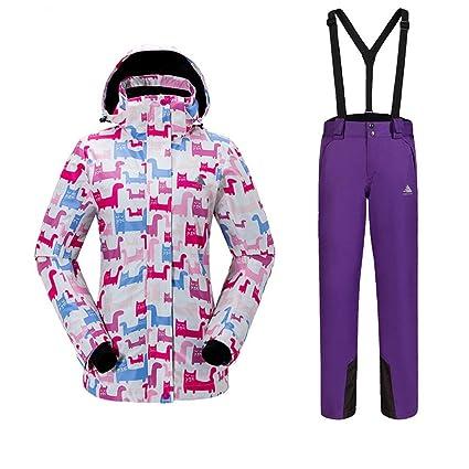 Trajes de esquí de colores de las mujeres Traje de esquí ...