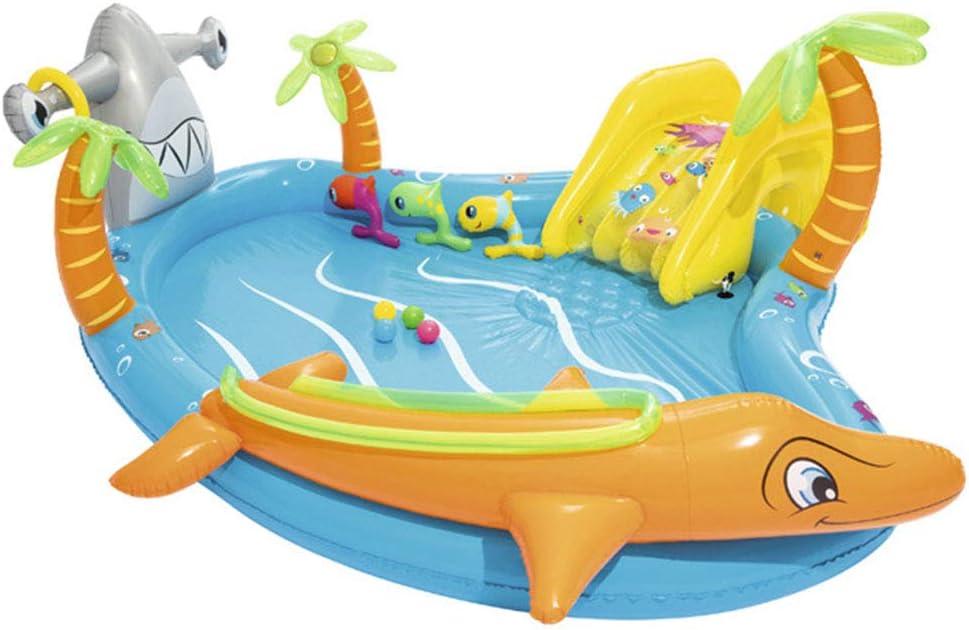 ZMCOV Piscina Hinchable, Piscina De Agua De Verano, Piscina Hinchable Familiar Swim Center, Piscina De Bolas Marinas, para Bebé, Gruesa Y Duradera: Amazon.es: Deportes y aire libre