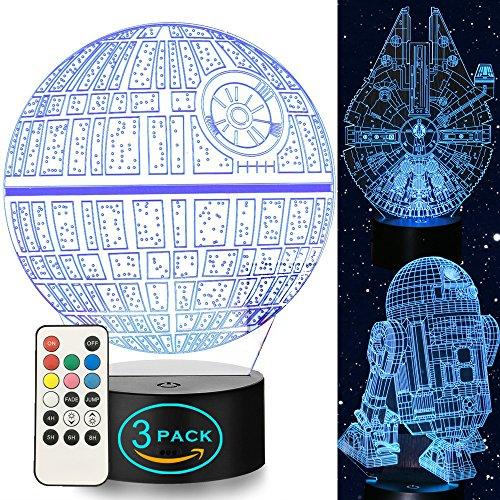 Star Wars Night Light 3D LED night lights 7 Colors Changing