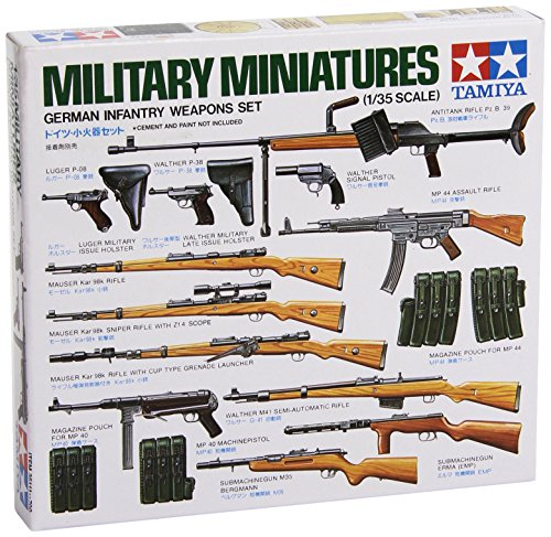 35 German Infantry Weapons - Tamiya Models German Infantry Weapons Set
