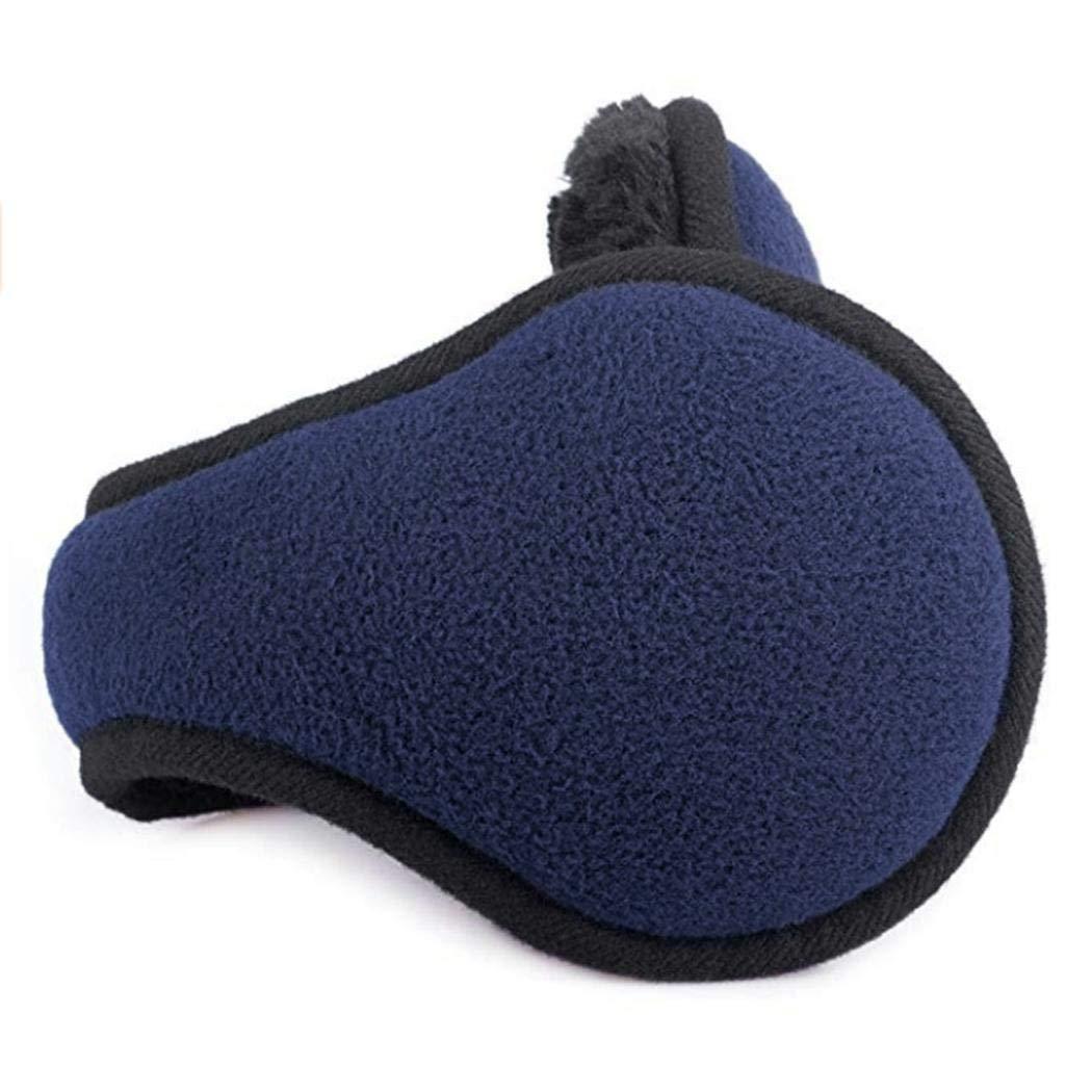 Chiak Men Fashion Winter Foldable Solid Thicken Ear Warmer Earmuffs Earmuffs