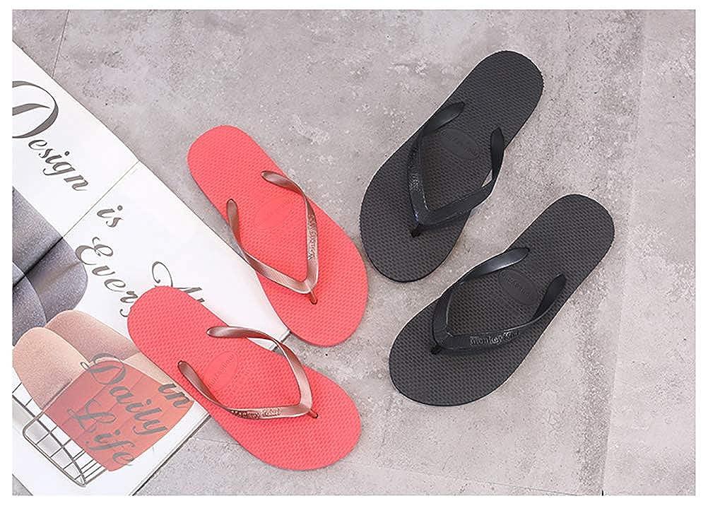 HUPLUE Couple Slippers Flip Flop Sandals Womens Men Antiskid Odorless Casual Beach Thongs Slippers