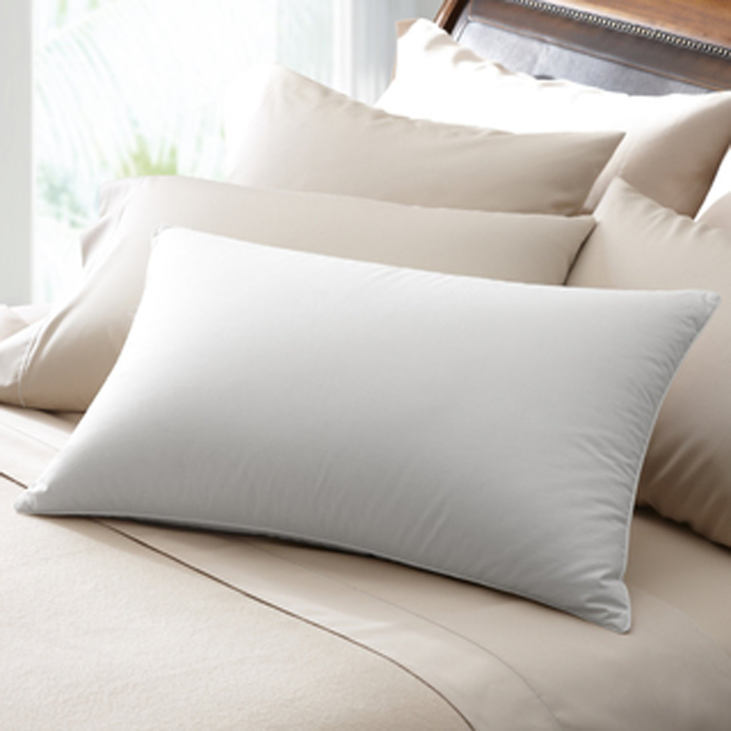 euro pillow polyester piped itm down double stitched alternative pillows white overfilled comfy square