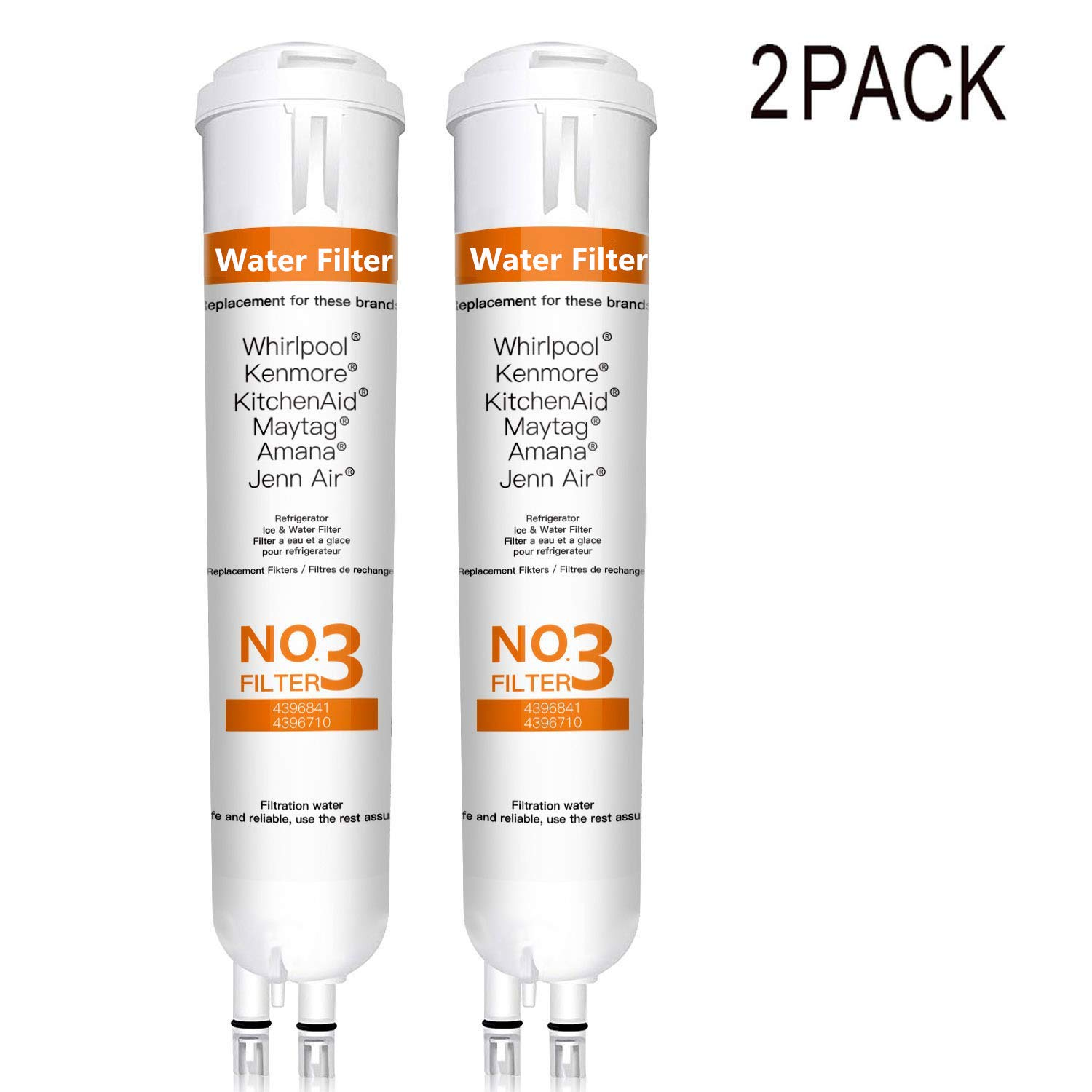 BOYTY Refrigerator Water Filter 9083 Replacement for Ken-More Refrigerator Water Filter 9083 469083 9030 469030 46-9020(White 2 Pack)