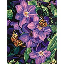 Dimensions Needlecrafts Paintworks Paint By Number, Clematis and Butterflies