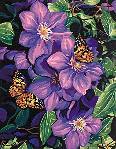Dimensions PBN 11x14 Clematis&Butterfl