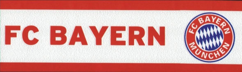 FC Bayern Mü nchen Bordü re Rot Weiss Borte Tapetenbordü re (4.00 Euro / Meter) Rasch