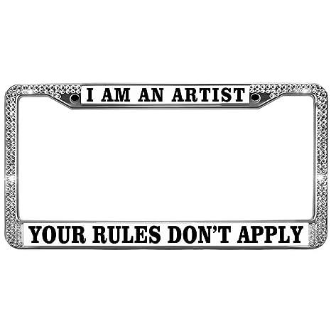 Amazon.com: GND Custom License Plate Frame,Funny License Plate Frame ...