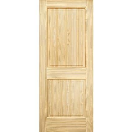 Image Unavailable  sc 1 st  Amazon.com & Amazon.com: 2-Panel Door Interior Door Slab Solid Pine Square Top ...