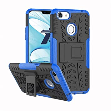 new styles a74d4 96b1a for Oppo AX5 Heavy Duty Tough Kickstand Strong Shockproof Case Cover (Blue)