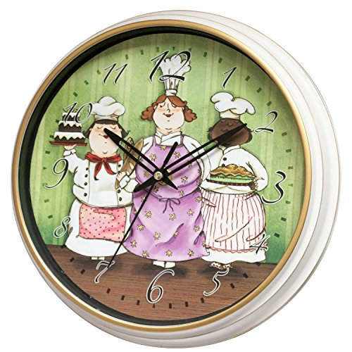 10 Inch Kitchen Decorative Wall Clock Silent Non Ticking for Dinning Room, Gifts