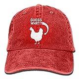 chicken bucket hat - Men Women Guess What Chicken Butt Funny Denim Fabric Baseball Hat Adjustable Street Rapper Hat