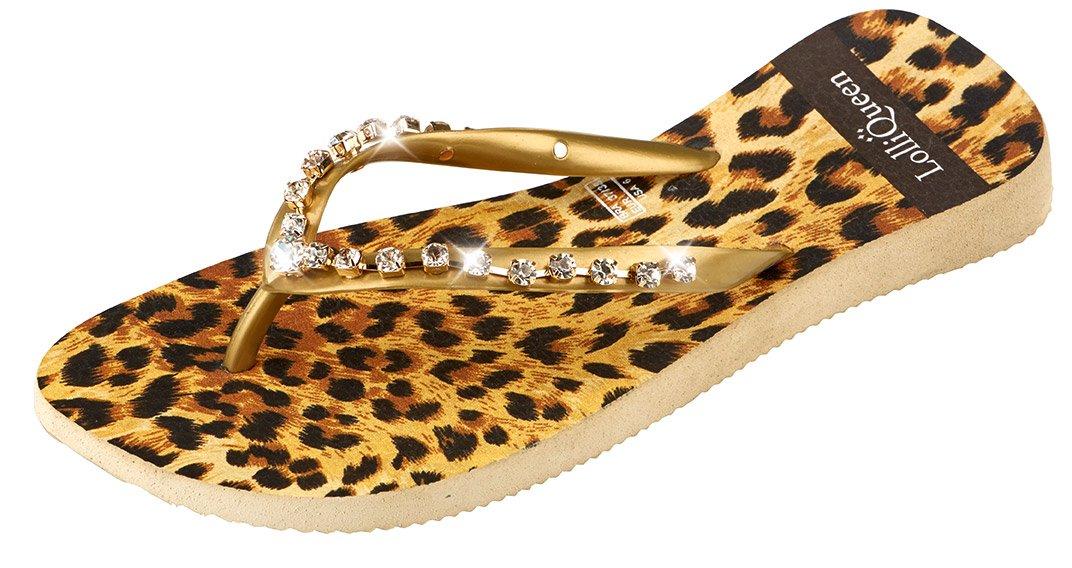 Lolli Queen LQWINGS001 - Zapatilla Baja de Caucho Mujer 39/40 EU|Leopardo