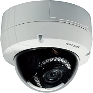 D-Link Outdoor Dome Security Camera 3MP Full HD WDR, Night Vision IR LED 60 ft Range PoE, 2 Way Audio Surveillance Network System (DCS-6513)
