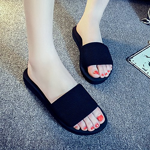 Green Sandals Thick Comfortable Womens Slip Btrada Elastic Platforms Shoes Anti Summer Sole wP76xnnIqE