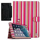 VanGoddy Pastel Striped Book Case w/ BT Speaker for 2nd Gen Apple iPad Air 9.7