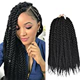 Refined Hair Synthetic Crochet Braids For Woman 12Inch 12Roots/Pack Ombre Senegalese Twist Crotchet Hair Extensions 6Packs/Lot (1B)
