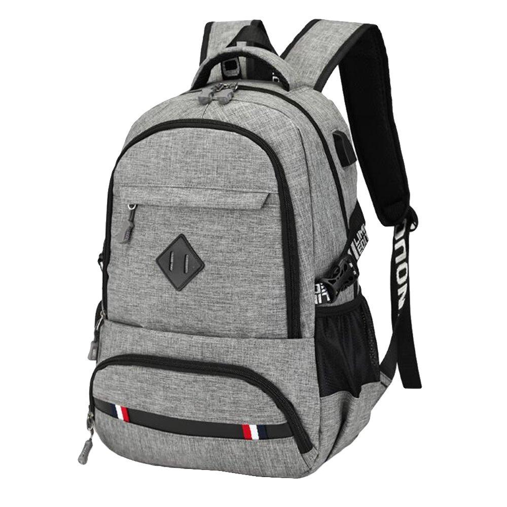 Asdomo Men Boys School Backpack Rucksack Laptop Backpack Travel Bag School Shoulder Bag Waterproof Daypack for Work, Travel, College