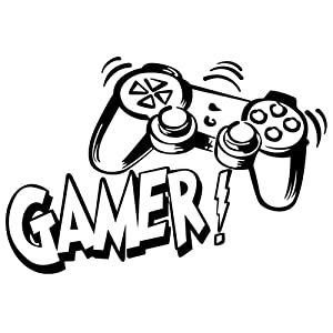Premium Gamer Wall Decals, Controller Wall Stickers, Removable Art Vinyl Decor for for Boys Room Home Playroom Bedroom Walls Background Decoration (11.7 X 16.4In)