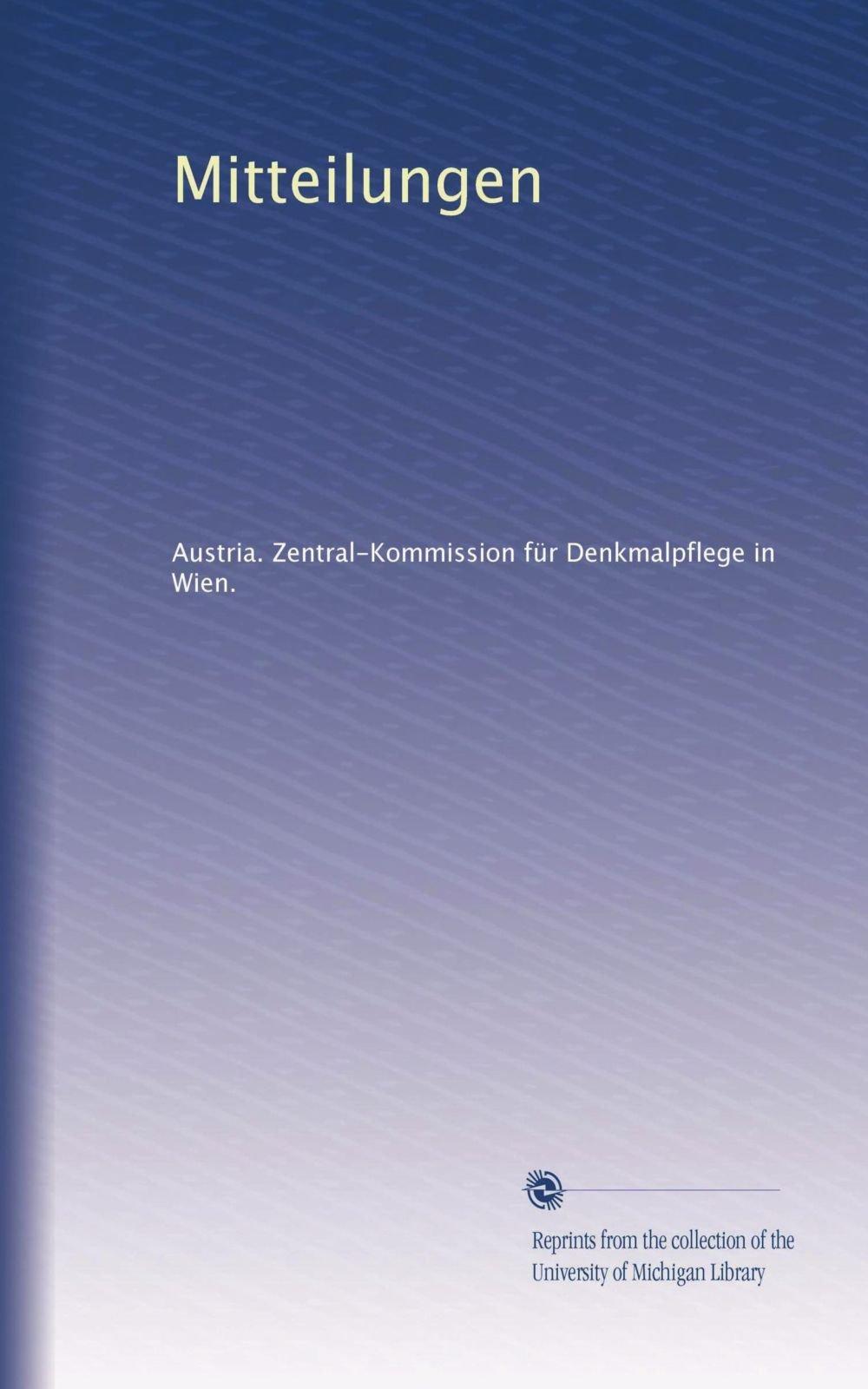 Download Mitteilungen (Volume 46) (German Edition) pdf