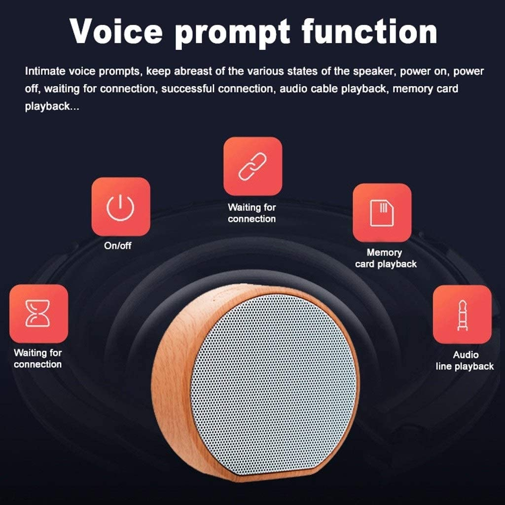 LEZDPP Outdoor Card Bluetooth Small Steel Cannon Speaker Mini Portable Audio Childrens Player Outside The Heavy Bass Color : B