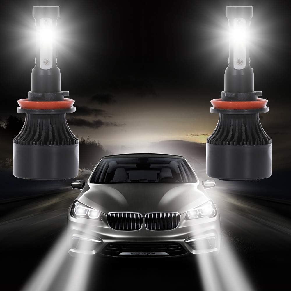 2pcs 9600Lm 80W 6000K Focus Light SCITOO 9004 LED Headlight Bulb Conversion Kit High Low Beam Brighter Cree White Light LED Headlight
