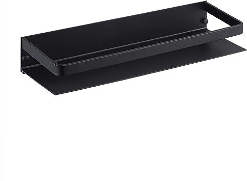 KES Estanteria Baño Aluminio Balda Baño Negra sin Taladrar Repisa Ducha Pared 40CM, BSC409S40DG-BK