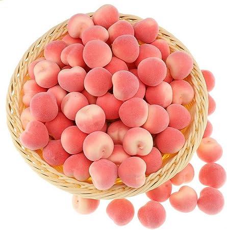 Gresorth 30pcs Artificiel Lifelike Mini Rouge Pomme D/écor Faux Fruits Maison F/ête Festival D/écoration